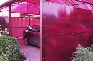 Как сделать гараж из поликарбоната — примеры, чертежи