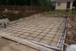Фундамент для гаража из поликарбоната