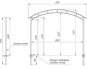 Как сделать гараж из поликарбоната