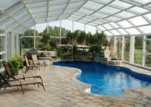 Обустройство навеса для бассейна из поликарбоната: инструкция и советы специалистов по выполнению