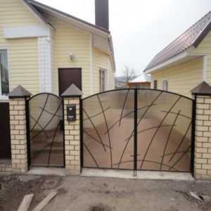 Ворота из поликарбоната своими руками