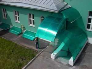 Крыльцо из поликарбоната своими руками