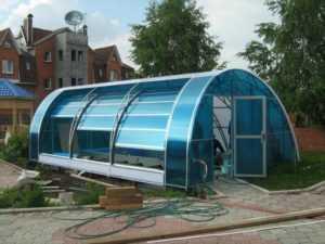 Павильон из поликарбоната для бассейна